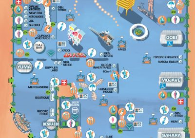 Coachella Festivalmap by